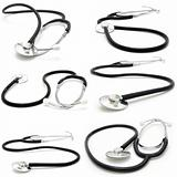 collection stethoscope on a white background