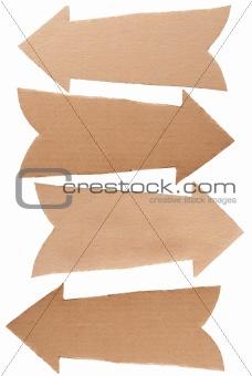 Cardboard arrows