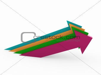 3d arrow high colorful success