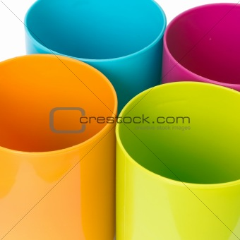 Four top plastic round tube