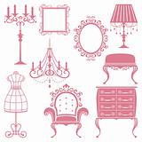 Antique design element set