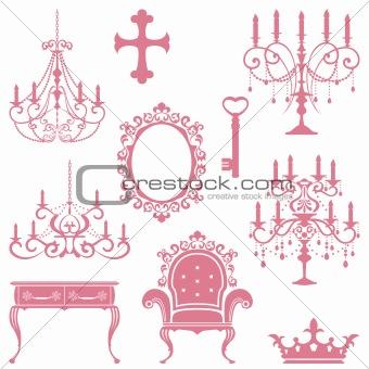 Antique design element set
