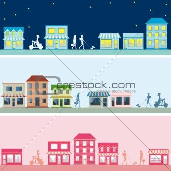 Town banner set