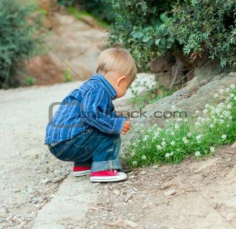 Boy in the garden