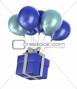 3d shiny balloons