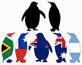 Penguin flags
