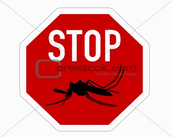 Stop sign for mosquito