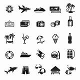 Signs. Vacation, Travel &amp; Recreation. First set icons in black