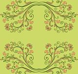 spring floral frame