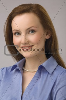 Portrait of the young business woman