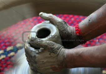 pottery work