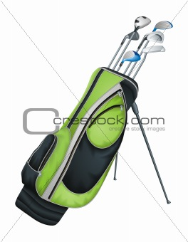 Golf Clubs vector