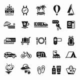 Signs. Vacation, Travel &amp; Recreation. Second set icons in black