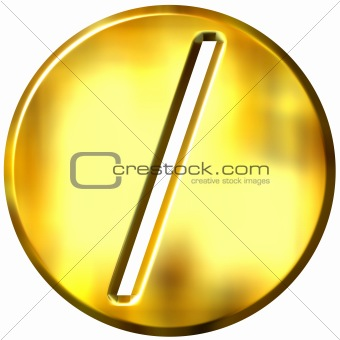 3D Golden Framed Division Symbol