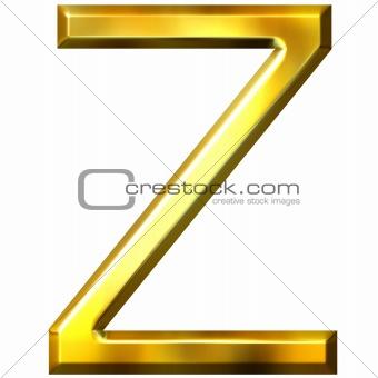 3D Golden Letter Z