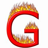 3D Letter G on Fire
