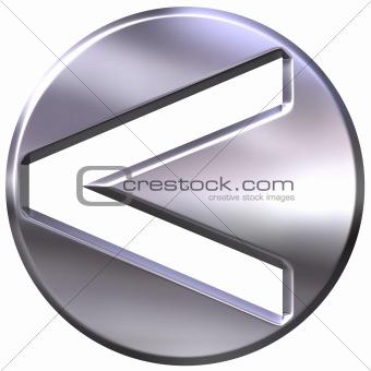 3D Silver Framed Inequality Symbol