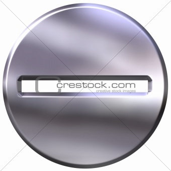 3D Silver Framed Subtraction Symbol