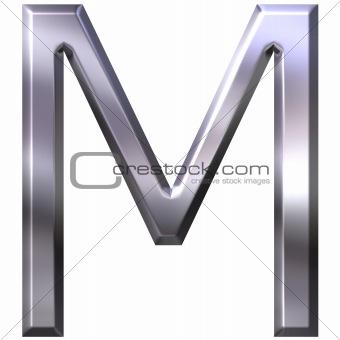 3D Silver Letter M