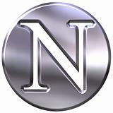 3D Silver Letter N