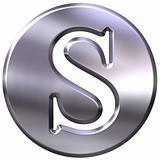 3D Silver Letter S