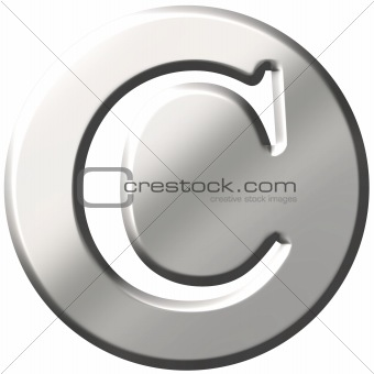 3D Steel Letter C