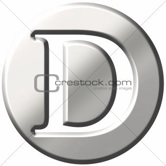3D Steel Letter D