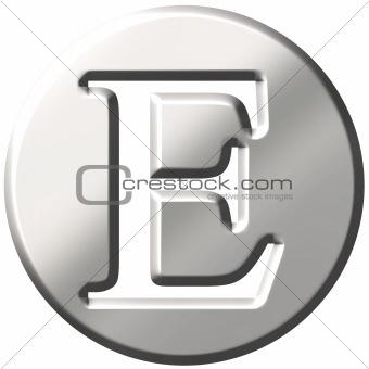 3D Steel Letter E