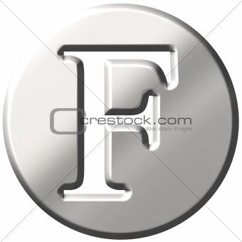 3D Steel Letter F