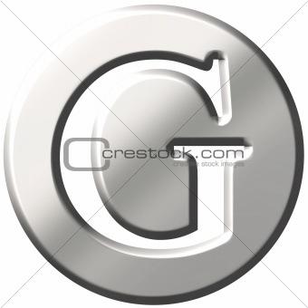 3D Steel Letter G
