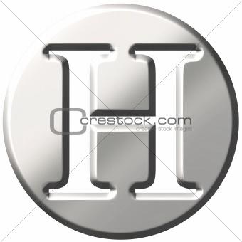 3D Steel Letter H