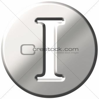 3D Steel Letter I