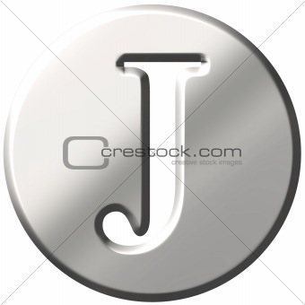 3D Steel Letter J
