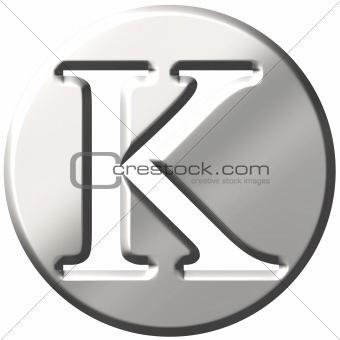 3D Steel Letter K