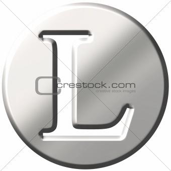 3D Steel Letter L