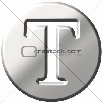 3D Steel Letter T