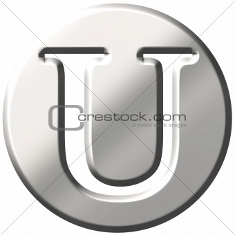 3D Steel Letter U