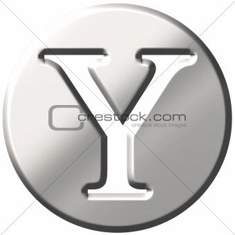 3D Steel Letter Y