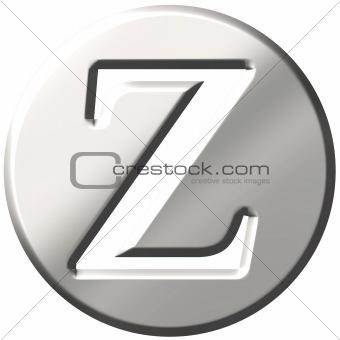 3D Steel Letter Z