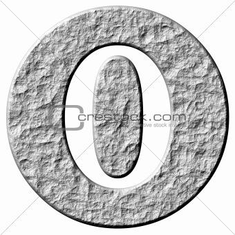 3D Stone Framed Number 0