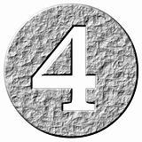 3D Stone Framed Number 4