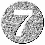 3D Stone Framed Number 7