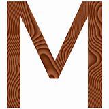 Wooden Letter M