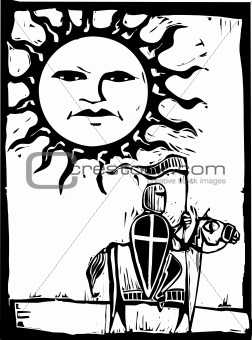 Knight beneath Sun Face