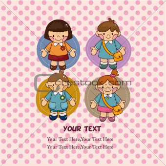 cartoon kid card