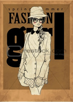 fashion illustration cover girl