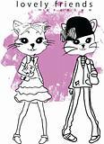 cute illustration cats