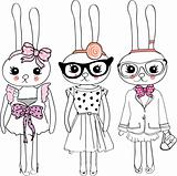 fashion illustration rabbits
