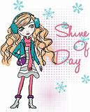 shine illustration girl