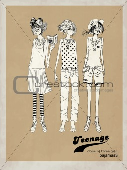 fashion illustration sketch girls